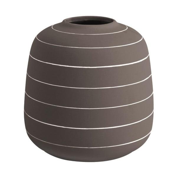 Tmavohnedá keramická váza PT LIVING Terra, ⌀16,5cm