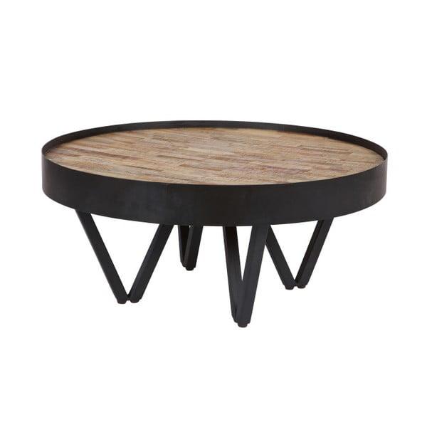 Dax dohányzóasztal, mangófa asztallappal - WOOOD