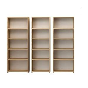 Sada 3 knihoven Clarita, výška 169 cm