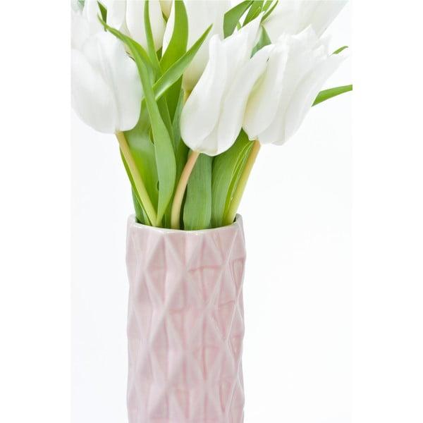 Růžová váza Hawke&Thorn, výška 19cm