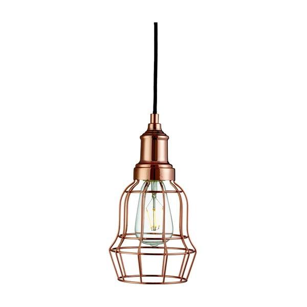 Stropní svítidlo Searchlight Bell Cage, měděná