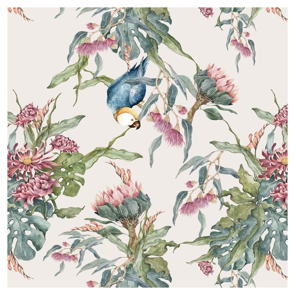 Tapeta na zeď Dekornik Tropical Parrot, 50 x 280 cm