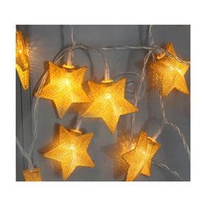Ghirlandă luminoasă cu LED Best Season Net Stars Golden