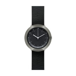 Hodinky Black Fuji Black Leather, 43 mm