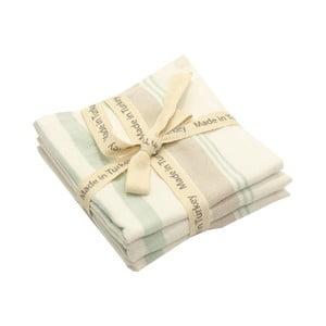Sada 3 pruhovaných bavlněných ručníků My Home Plus, 33 x 33 cm