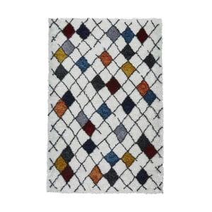 Bílý koberec s barevnými vzory Think Rugs Broadway, 120x170cm