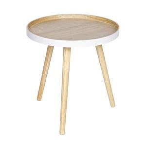 Odkládací stolek s bílým detailem De Eekhoorn Sasha