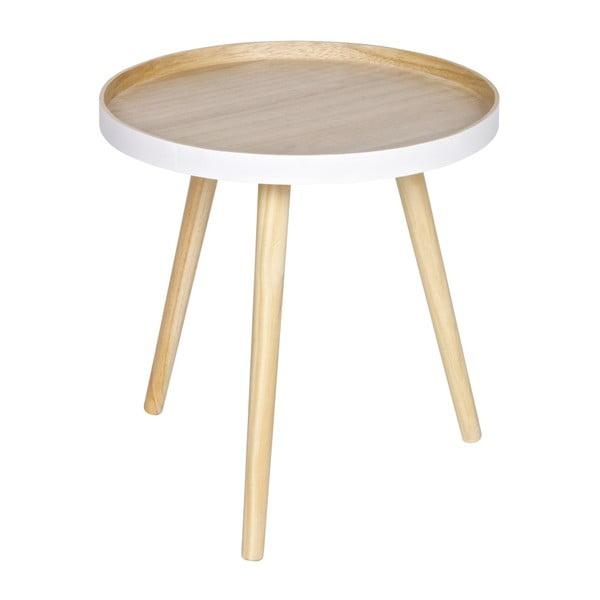 Odkládací stolek s bílým detailem WOOOD Sasha