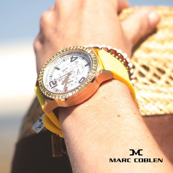 Unisex hodinky Marc Coblen s páskem a kroužkem navíc P89