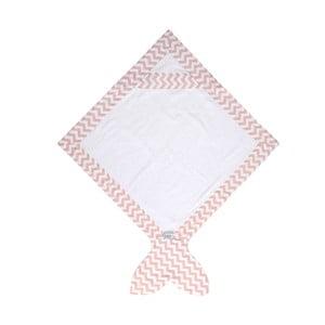 Dětský ručník Baby Bites Fish Pink, 80x 80 cm