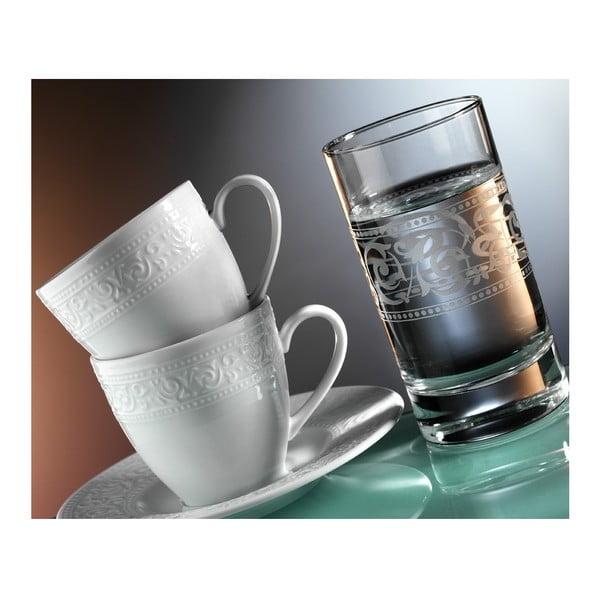 Sada hrníčků na kávu a sklenice Elegance, 12 ks