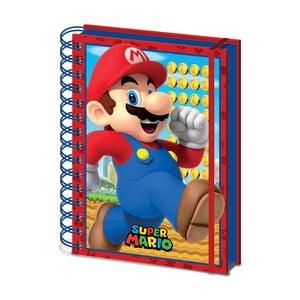 Linkovaný zápisník A5 Pyramid International Super Mario, 80 stran