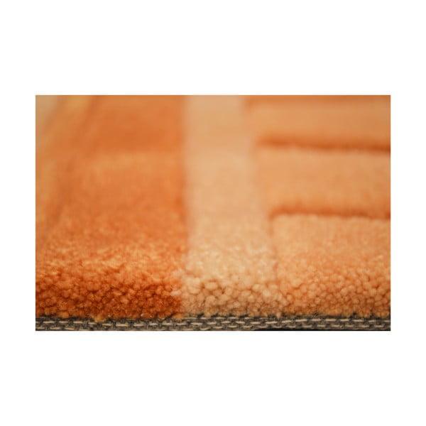 Ručně tkaný koberec Calypso, 70x140 cm, vanilkový