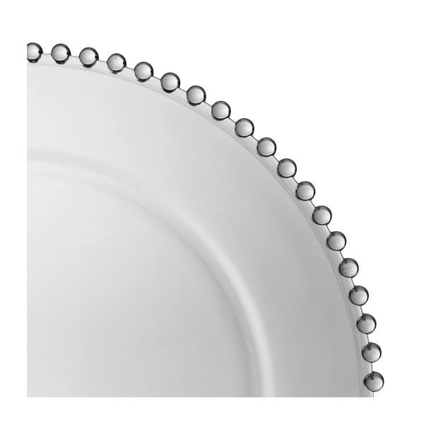 Skleněný talíř Côté Table Pearloa, ⌀33 cm