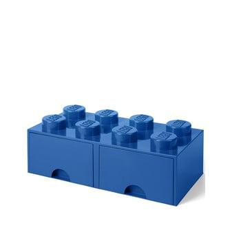 Cutie depozitare cu 2 compartimente LEGO®, albastru de la LEGO®