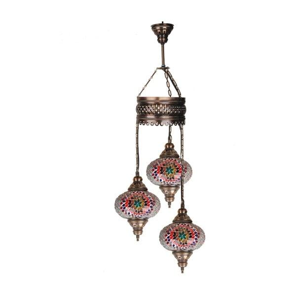 Skleněná ručně vyrobená závěsná lampa  Silvia, ⌀17 cm