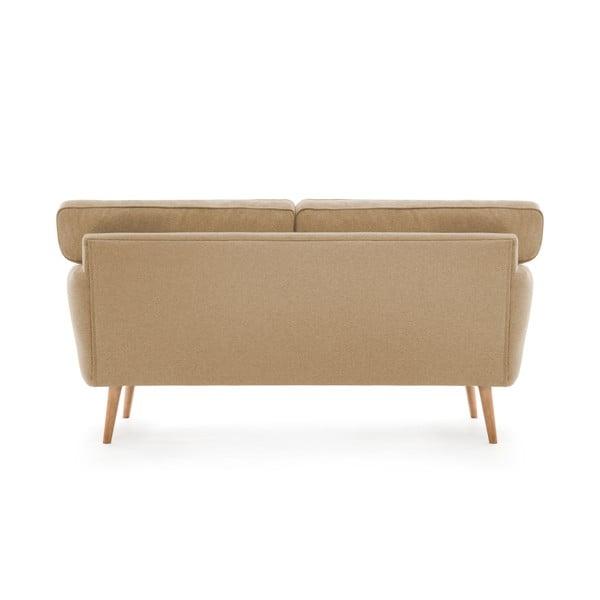 Canapea cu 3 locuri Vivonia Malva, crem - bej