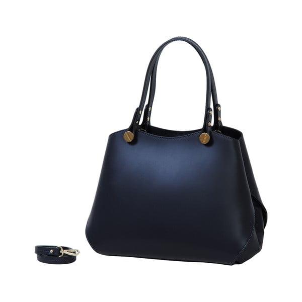 Tmavě modrá kožená kabelka Andrea Cardone 2038