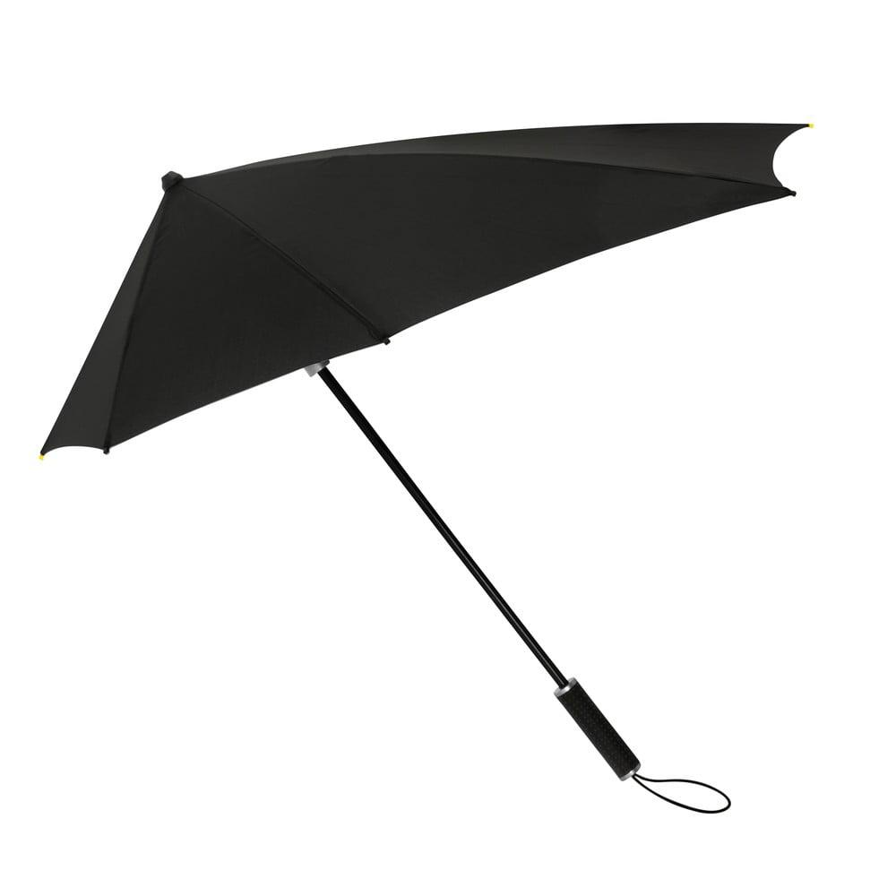 Černý golfový deštník odolný vůči větru Ambiance Susino, ⌀95cm