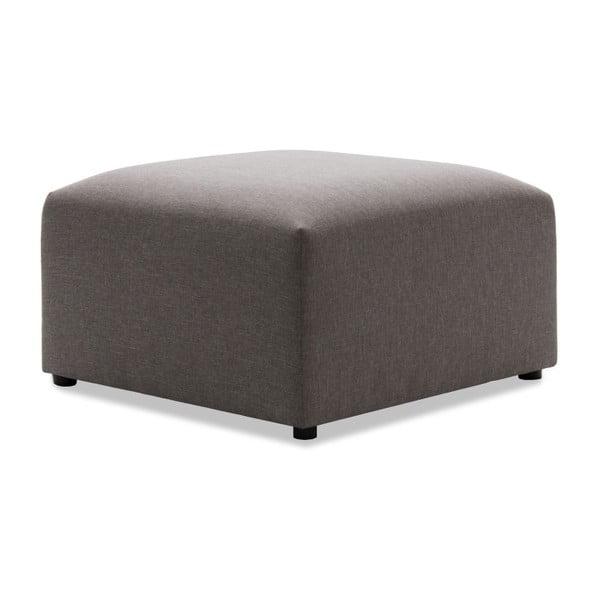 Canapea modulară cu 3 locuri și suport pentru picioare Vivonita Cube, gri