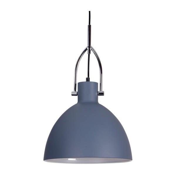 Szaroniebieska lampa wisząca z metalu sømcasa Simat, ø28cm
