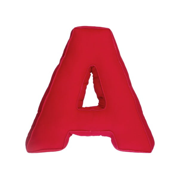 Látkový polštář A, červený
