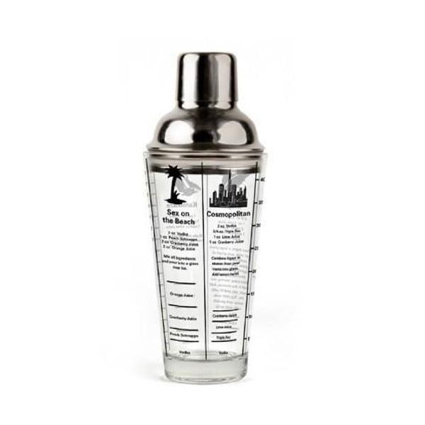 Master Mix üveg shaker, 400 ml - Kikkerland