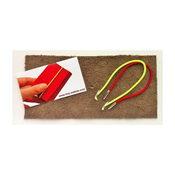 Peněženka In between s růžovou a žlutou gumičkou
