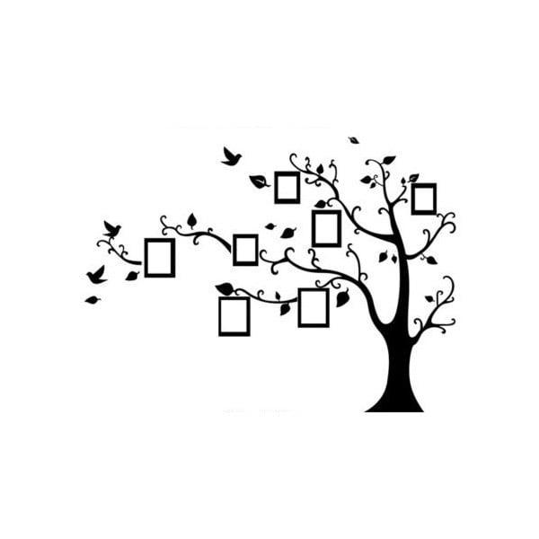 Dekorativní samolepka Strom s fotorámečky, pravá strana 150x205 cm