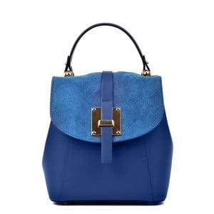 Modrý kožený batoh Carla Ferreri Hagana