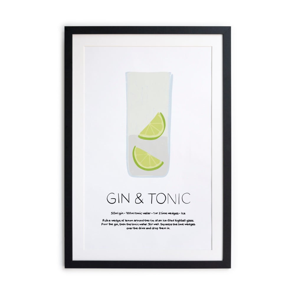 Zarámovaný plakát Really Nice Things Gin Tonic 40 x 50 cm