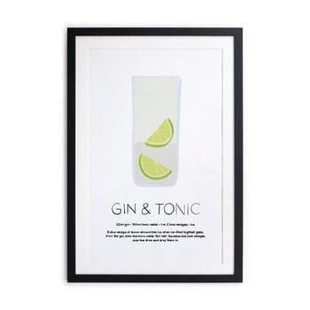 Tablou/poster înrămat Really Nice Things Gin Tonic, 40x50cm