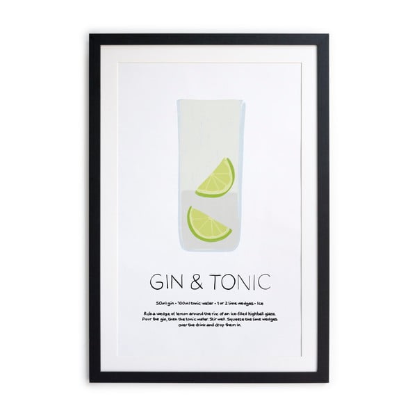 Tablou/poster înrămat Really Nice Things Gin Tonic, 40 x 50 cm
