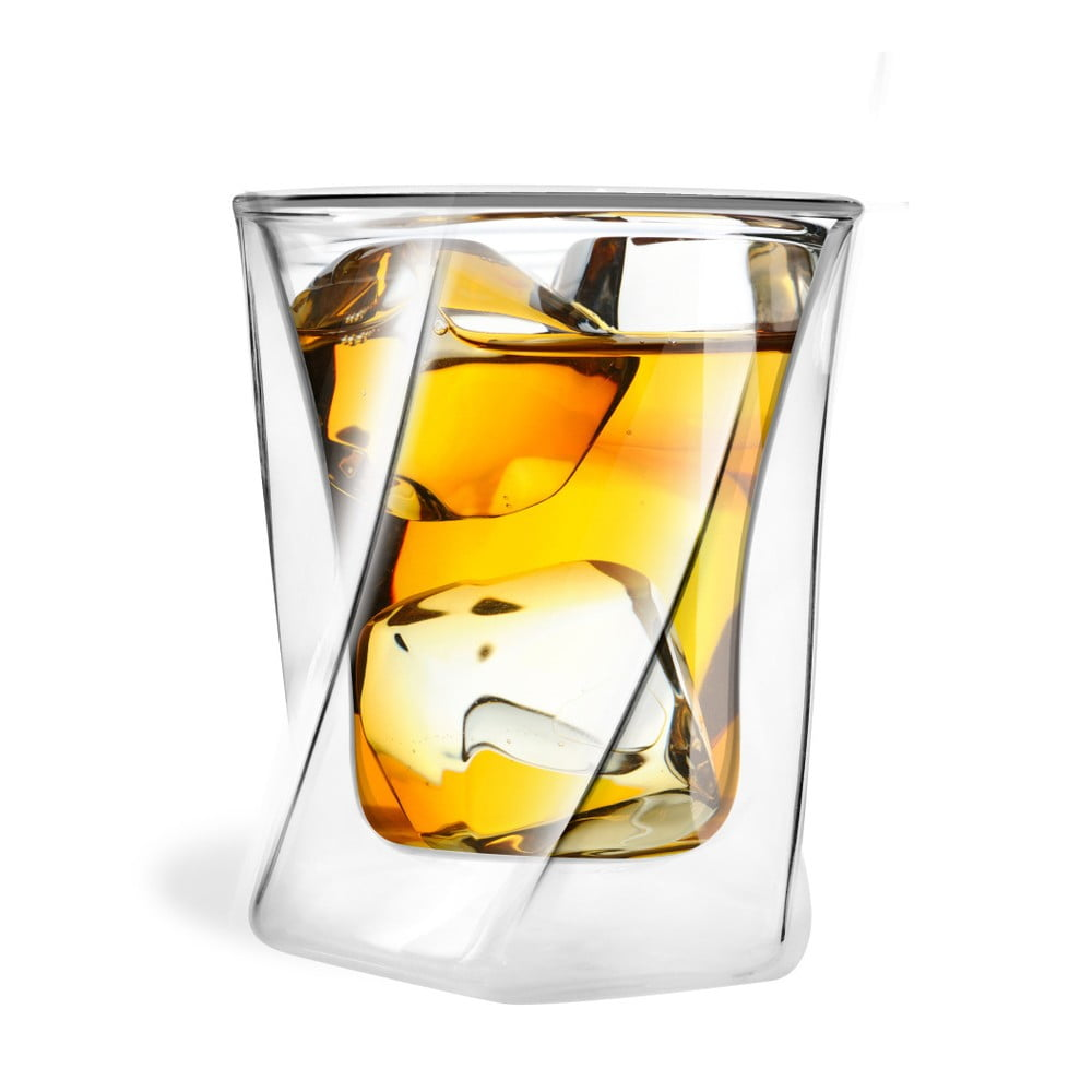 Dvojitá sklenice na whiskey Vialli Design, 300ml