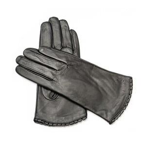 Dámské černé kožené rukavice <br>Pride & Dignity Toronto, vel. 8