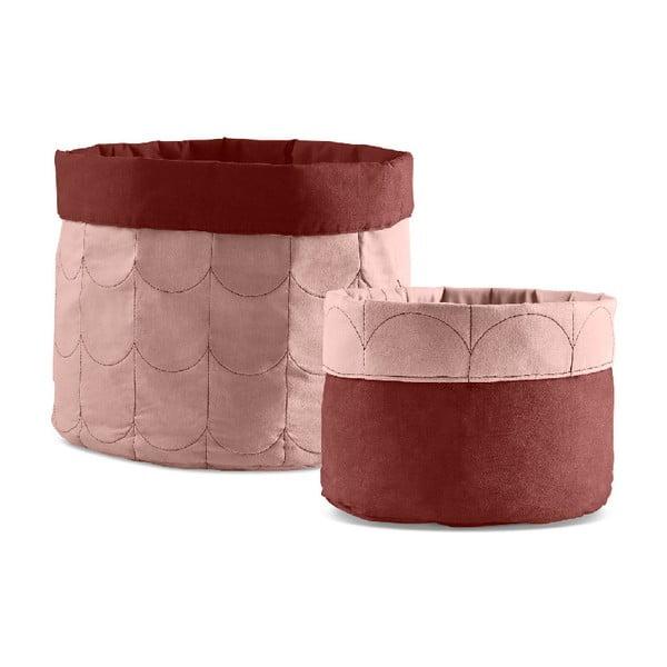 Zestaw 2 różowych pojemników dwustronnych Flexa Room