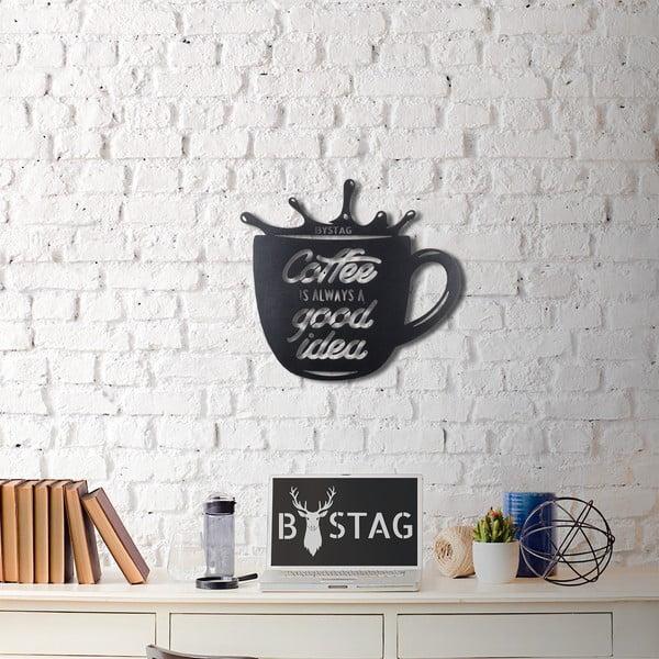 Decorațiune din metal pentru perete Coffee Mug, 49 x 50 cm