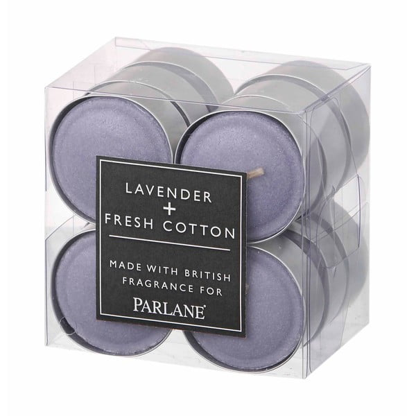 Sada 12 čajových svíček Parlane Lavender & Cotton