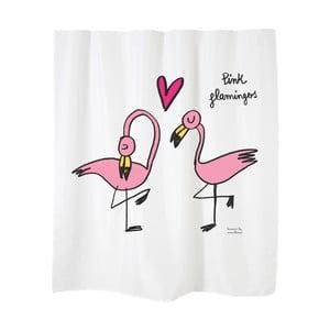 Sprchový závěs Flamingos White