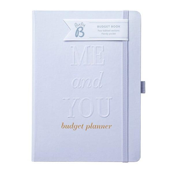 Zápisník v striebornej farbe na svadobný rozpočet Busy B