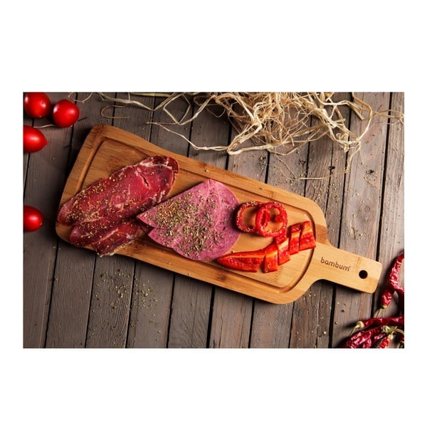 Bambusový servírovací podnos Bambum Rula Steak, 40 x 15 cm