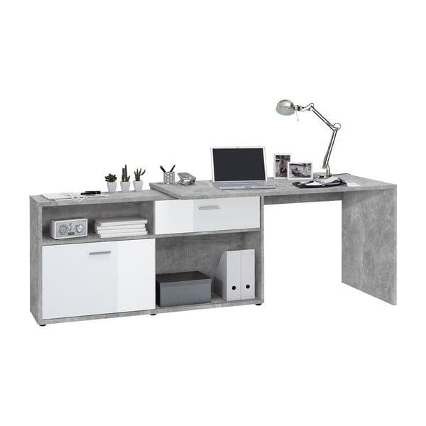 Šedý pracovní stůl 13Casa Dexter