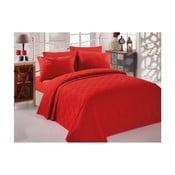 Cuvertură din bumbac pentru pat dublu Single Pique Rojo, 200 x 234 cm
