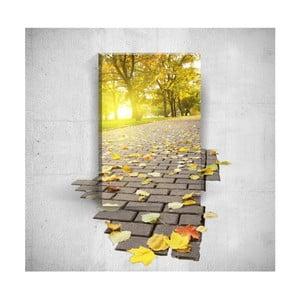 Nástěnný 3D obraz Mosticx Autumn Road, 40 x 60 cm