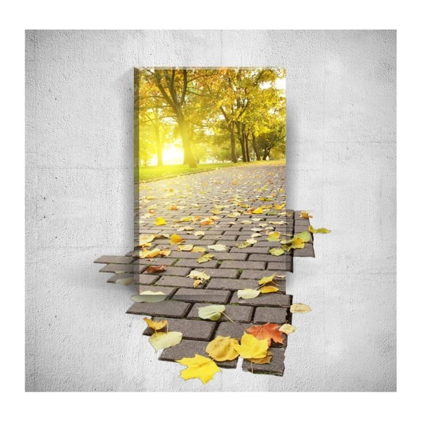 Tablou de perete 3D Mosticx Autumn Road, 40 x 60 cm