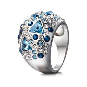 Prsten s modrými krystaly Swarovski Elements Crystals Triangle, vel.6
