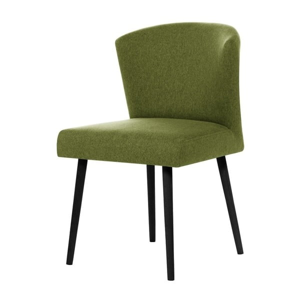 Zelená jedálenská stolička s čiernymi nohami Rodier Richter