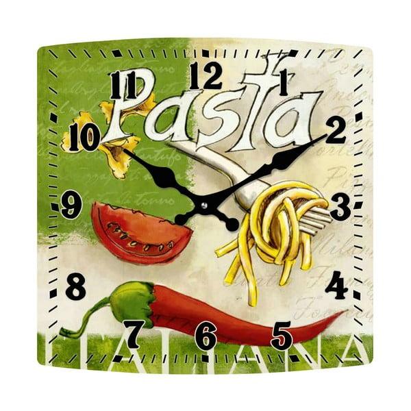 Skleněné hodiny Pasta, 30x30 cm