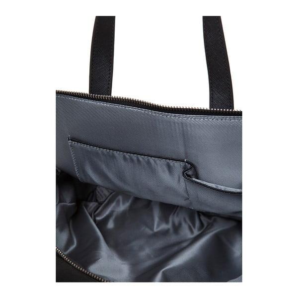 Kožená kabelka s dlouhým i krátkým popruhem Marta Ponti Strada, černá