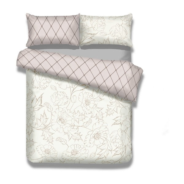 Sada 2 flanelových posteľné obliečky AmeliaHome Art Nouveau, 135 x 200 cm